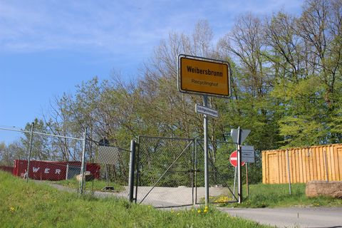 Schild Recyclinghof
